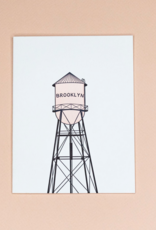 Quick Brown Fox Card - Blank: Brooklyn Watertower