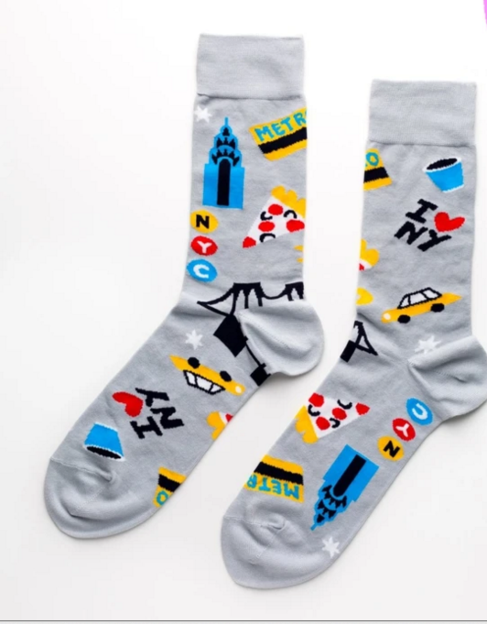 Yellow Owl Workshop Mens Socks: NYC
