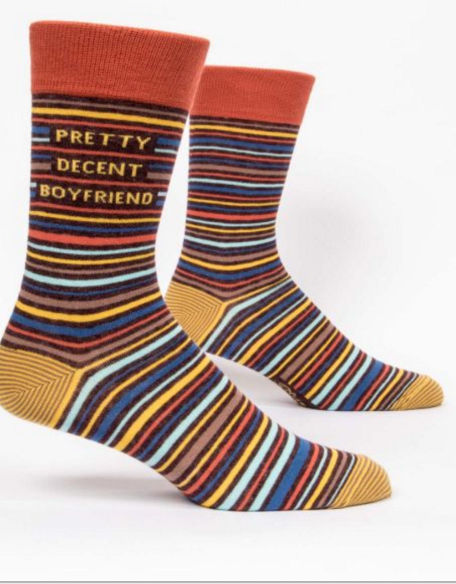 Blue Q Men's Socks - Pretty Decent Boyfriend