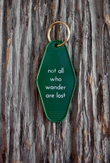 He Said She Said Motel Key Tag - Not all who wander are lost