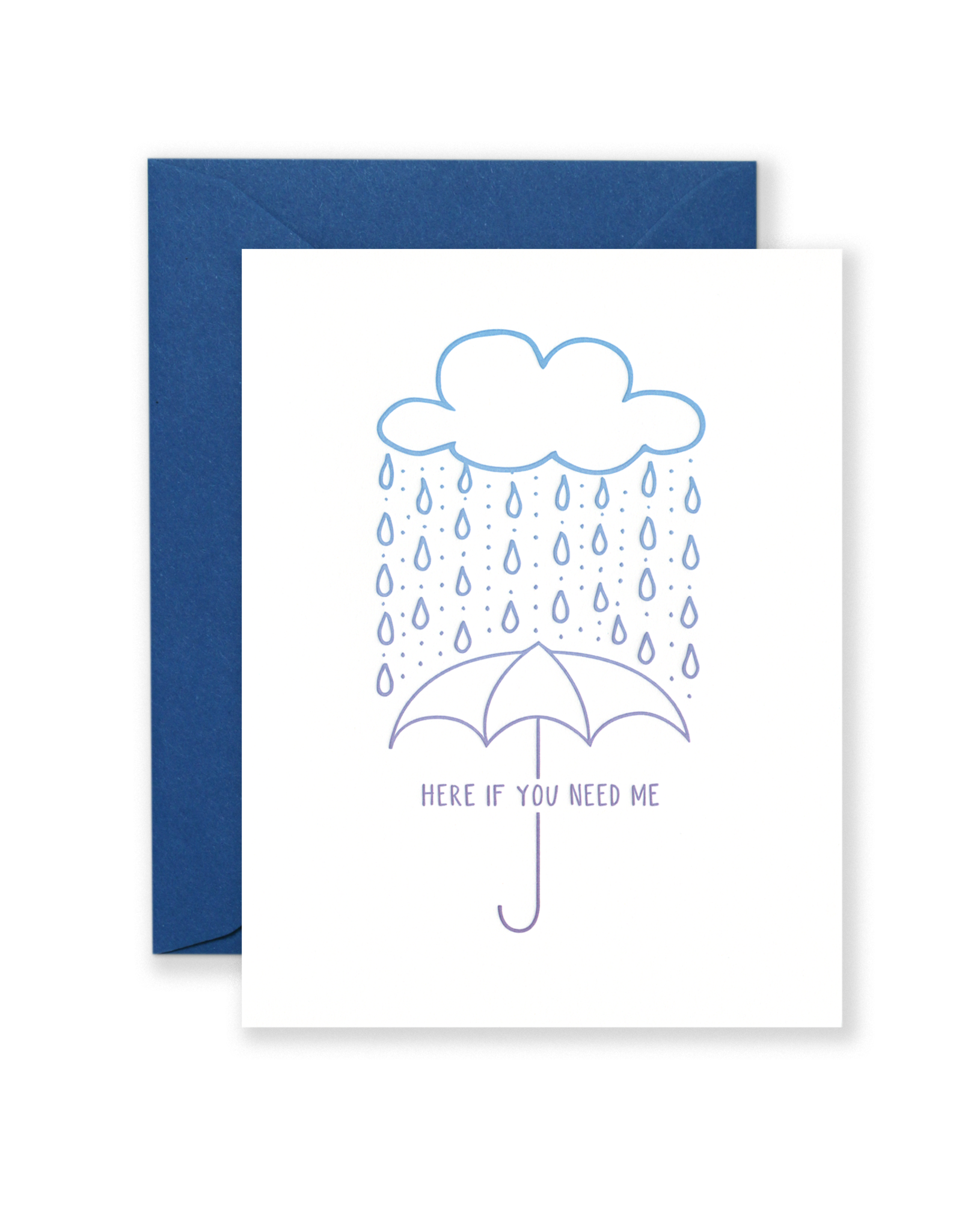 Lionheart Prints Card - Blank: Here if you need me