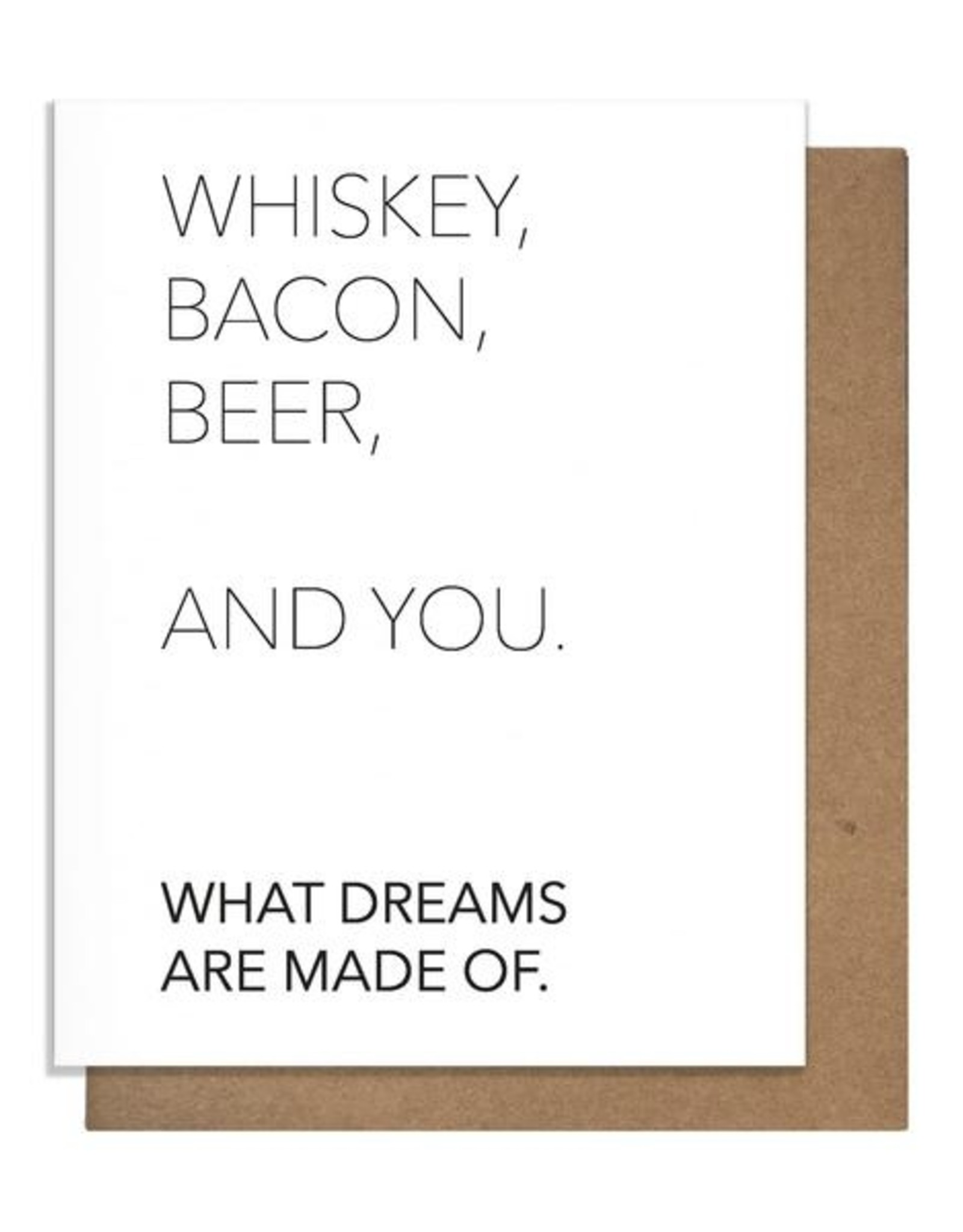 Card - Blank: Whiskey, Bacon, Beer