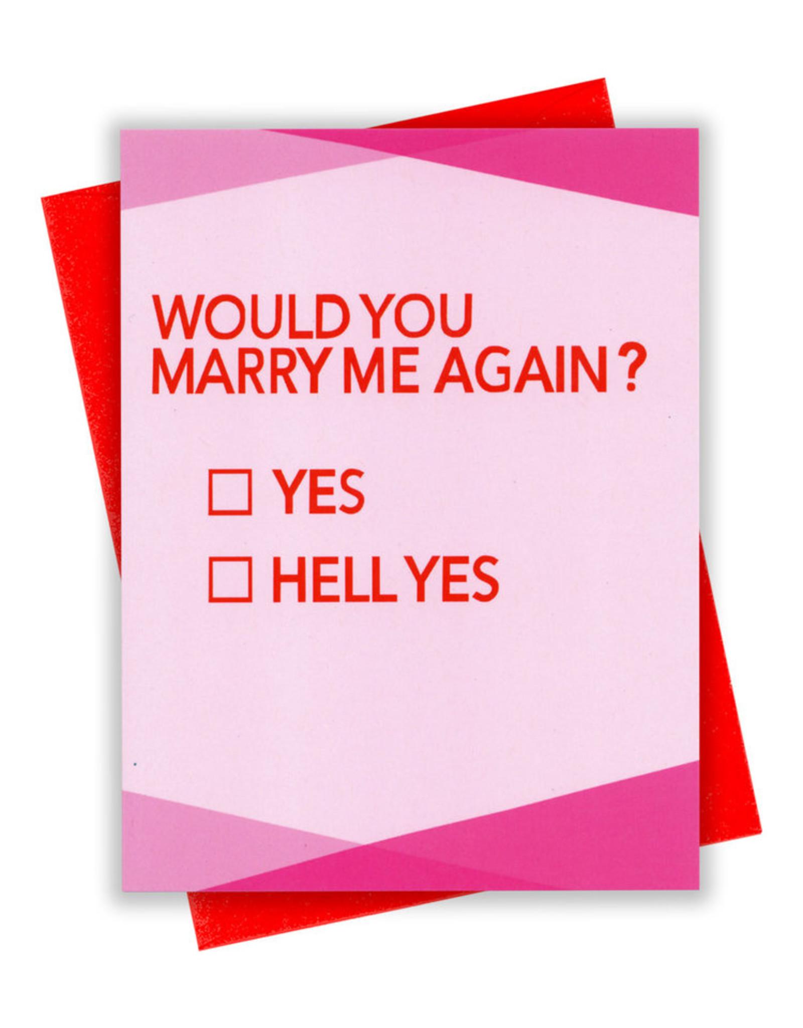 xou Card - Love: Marry me again