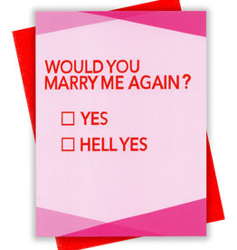 Card - Love: Marry me again