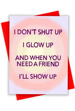 Card - Blank: I don't shut up