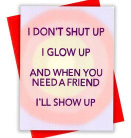 Card - Blank: I don't shut up
