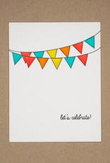 Card - Blank: Let's celebrate