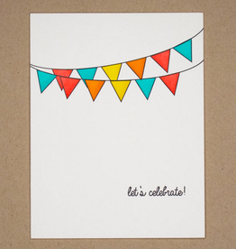 Quick Brown Fox Card - Blank: Let's celebrate