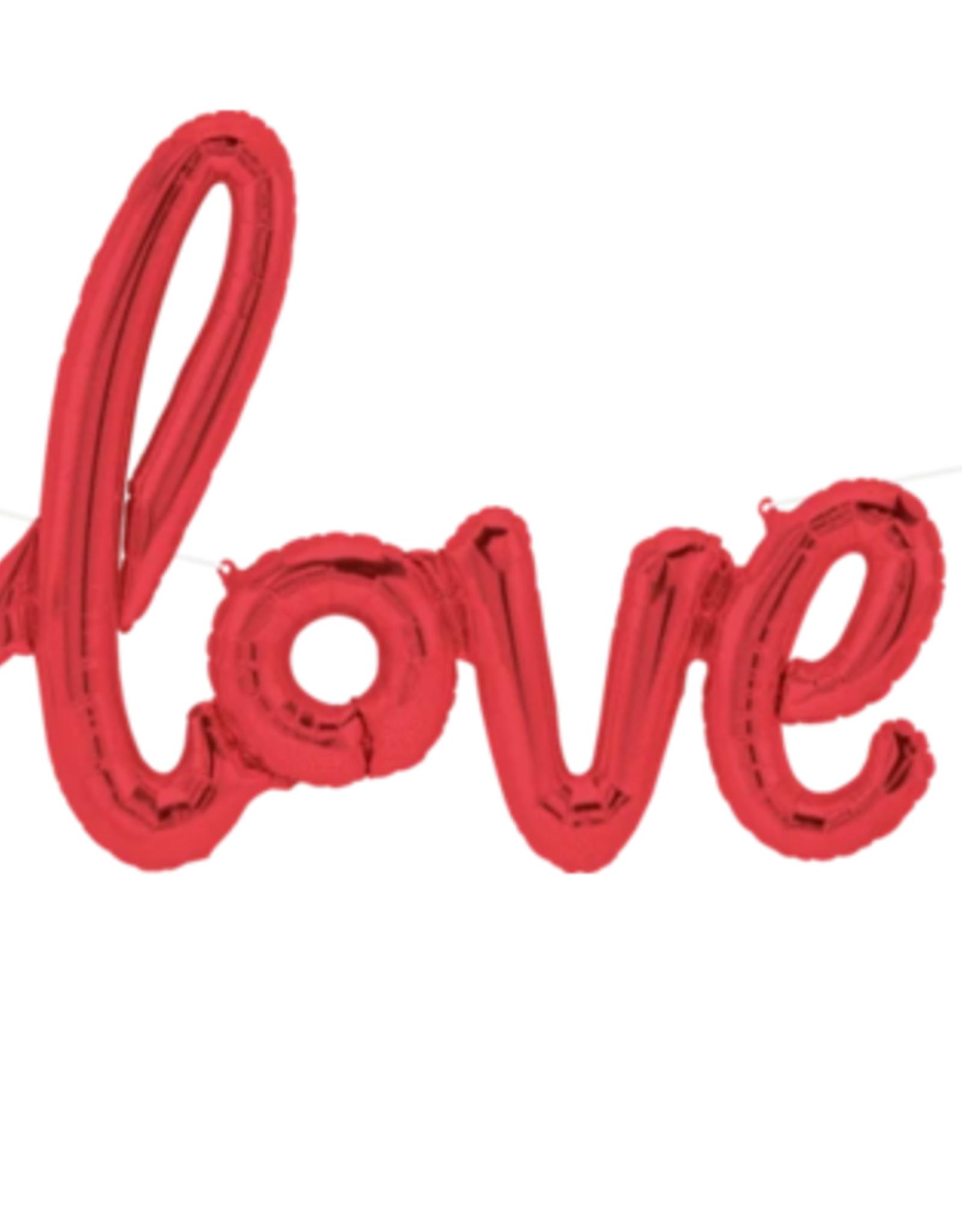 """Balloon - LOVE Red Script Air Filled 40"""""""