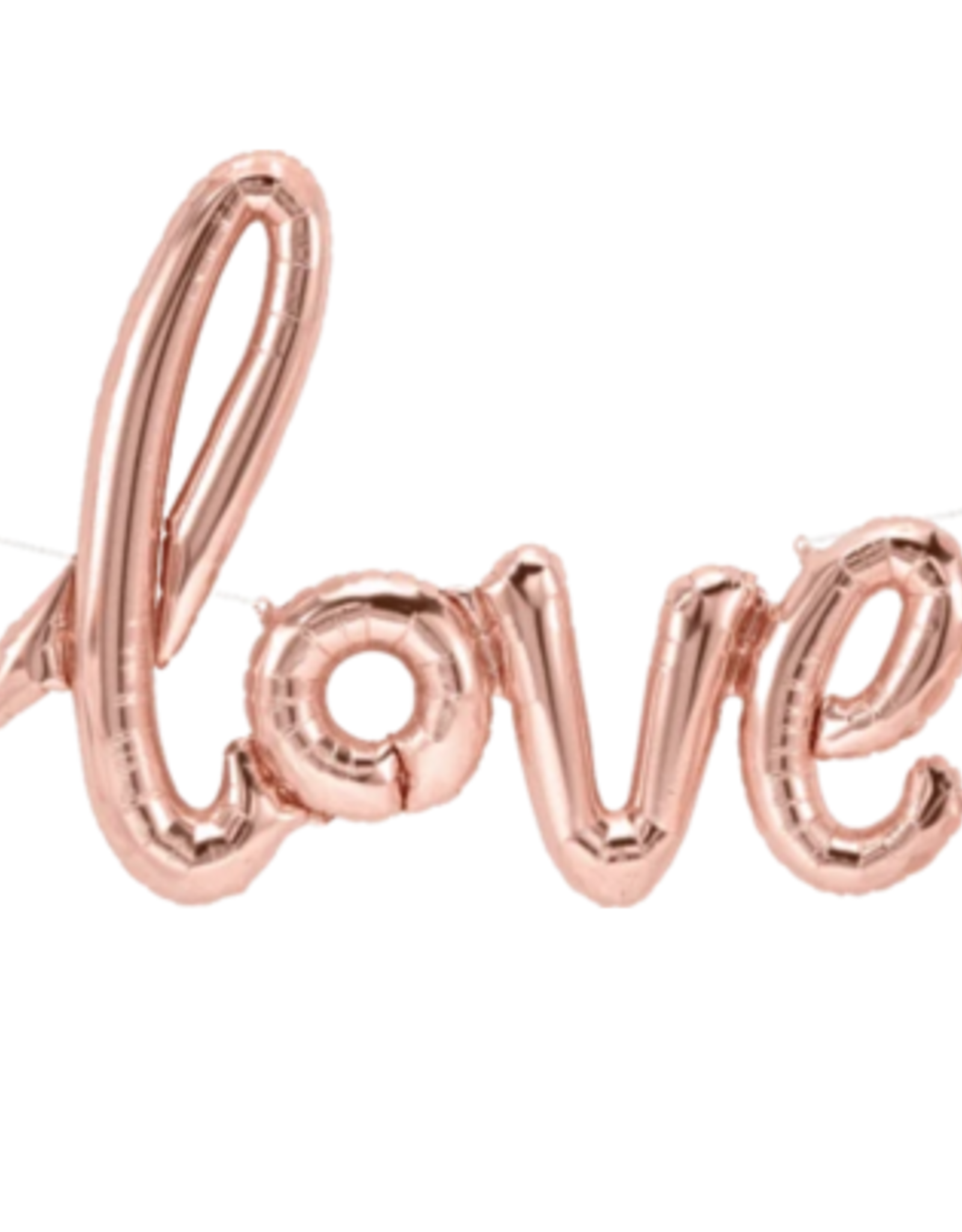 Rainbow Balloons Balloon - LOVE Pink Script Air Filled 40""