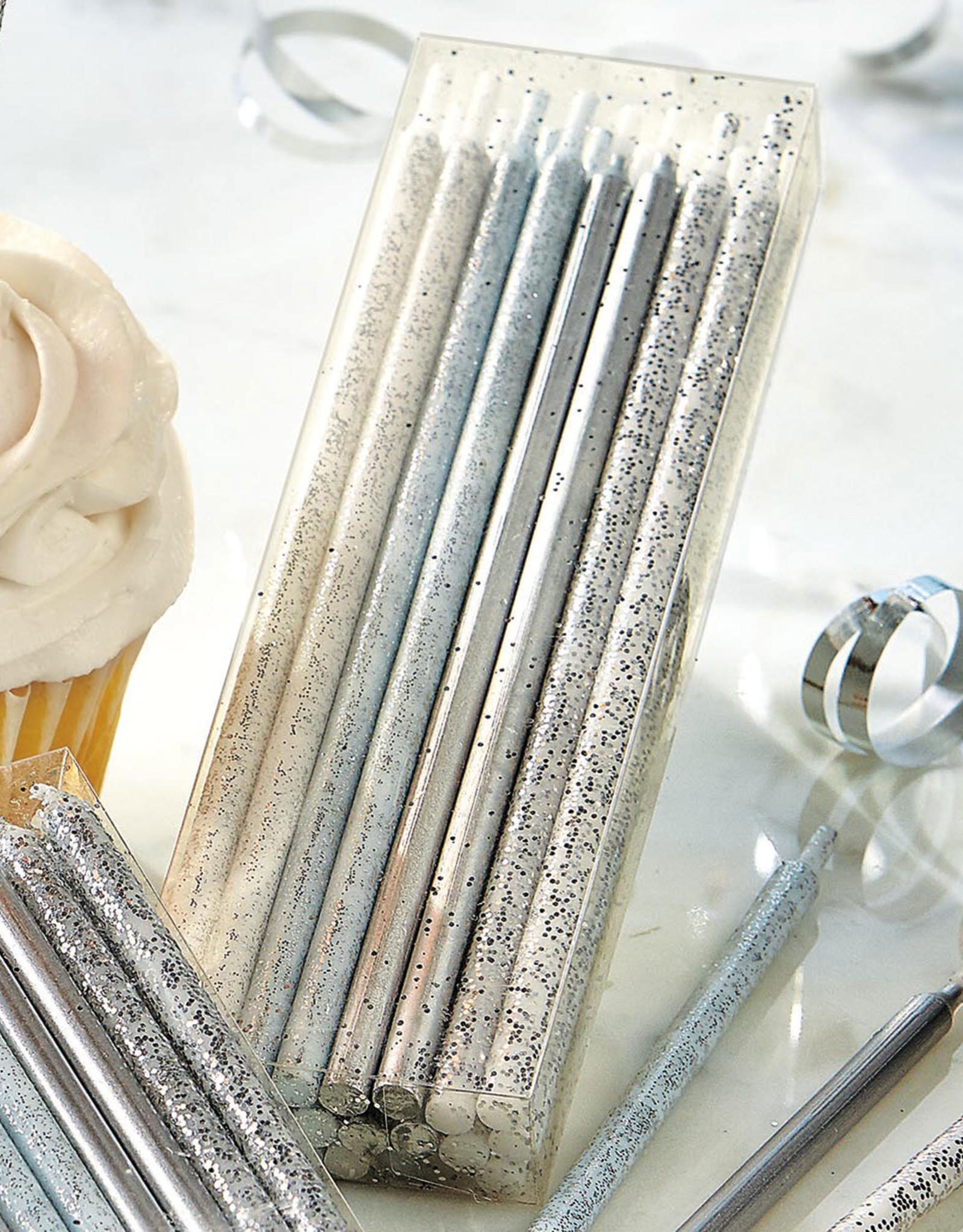 Tag Sparkle n shine tall candles: Metalic