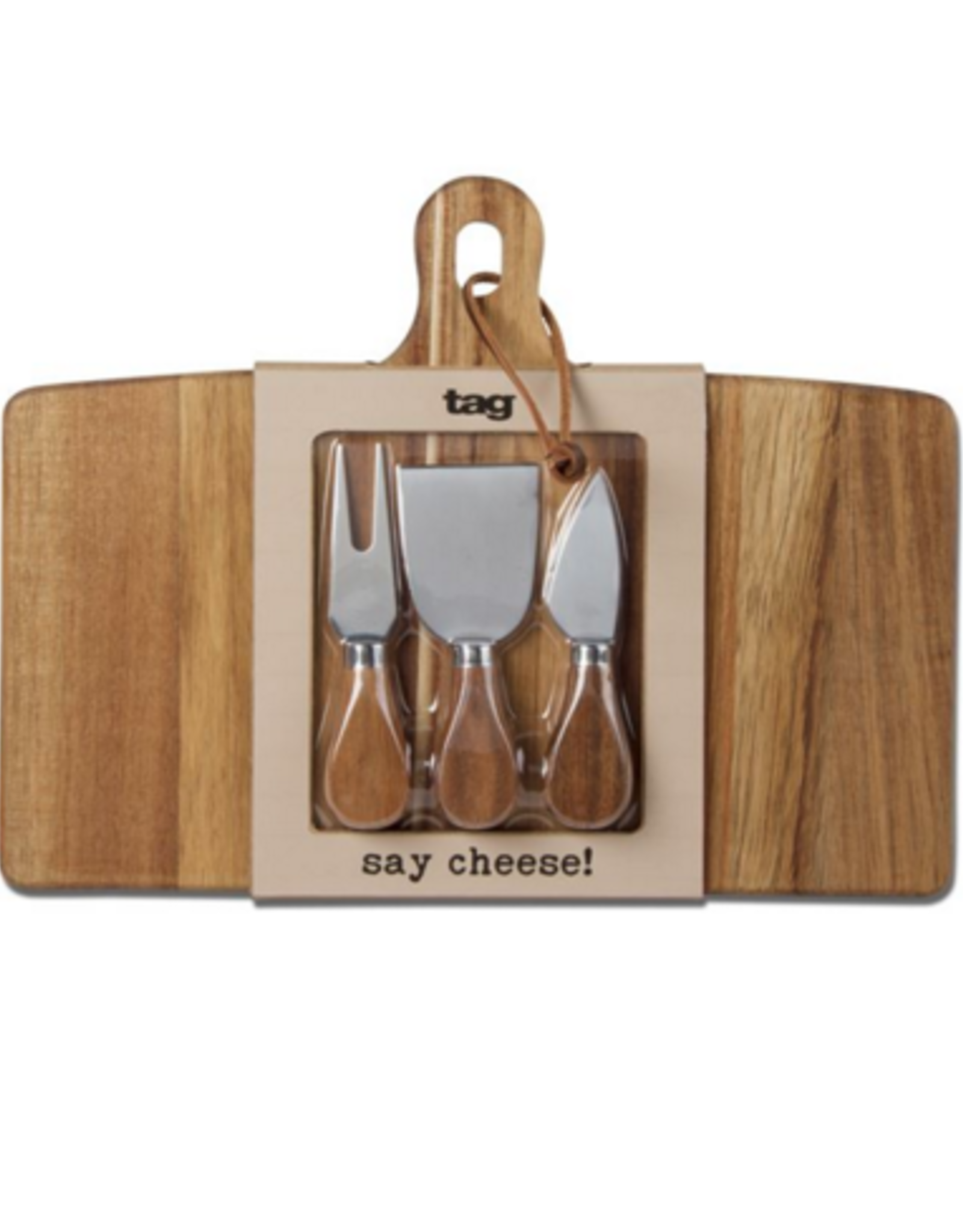 Say Cheese! Large cheese board with knives