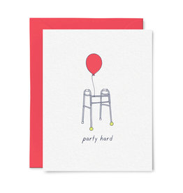 Little goat paper company Card - Birthday: Party Hard Walker