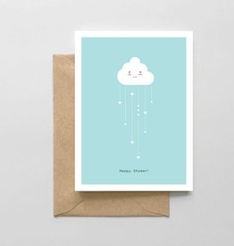 Spaghetti and Meatballs Card - Baby: Happy Shower Cloud