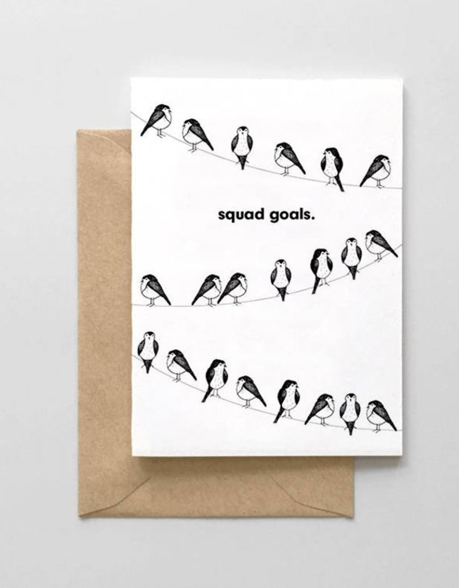 Spaghetti and Meatballs Card - Blank: Squad Goals