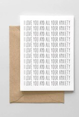 Spaghetti and Meatballs Card - Love: I love you and all your anxiety