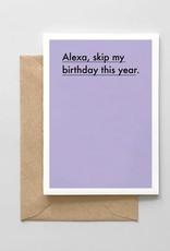Card - Birthday: Alexa skip my birthday
