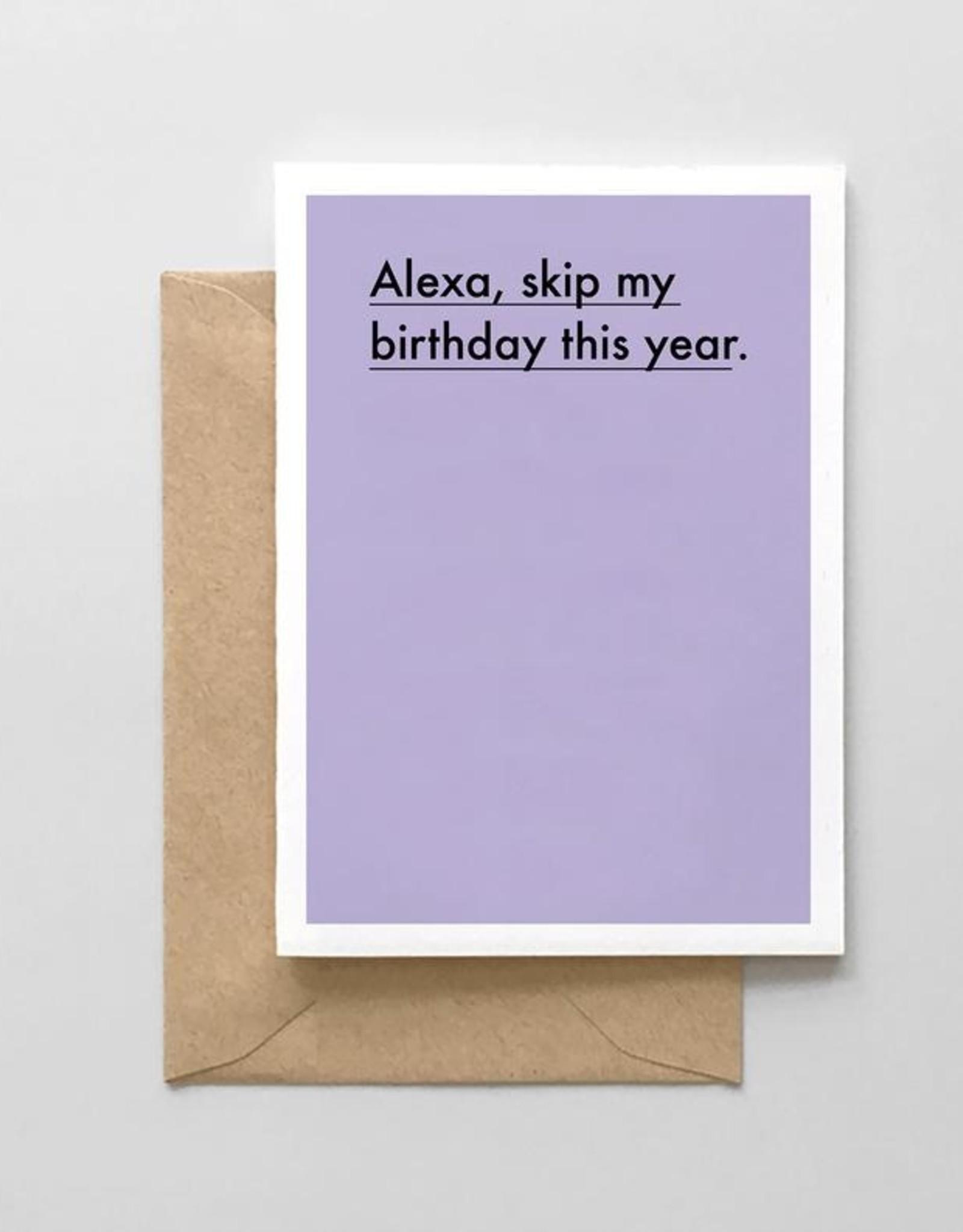 Spaghetti and Meatballs Card - Birthday: Alexa skip my birthday
