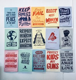 Ladyfingers Letterpress Resist Protest Prints: Set of 15