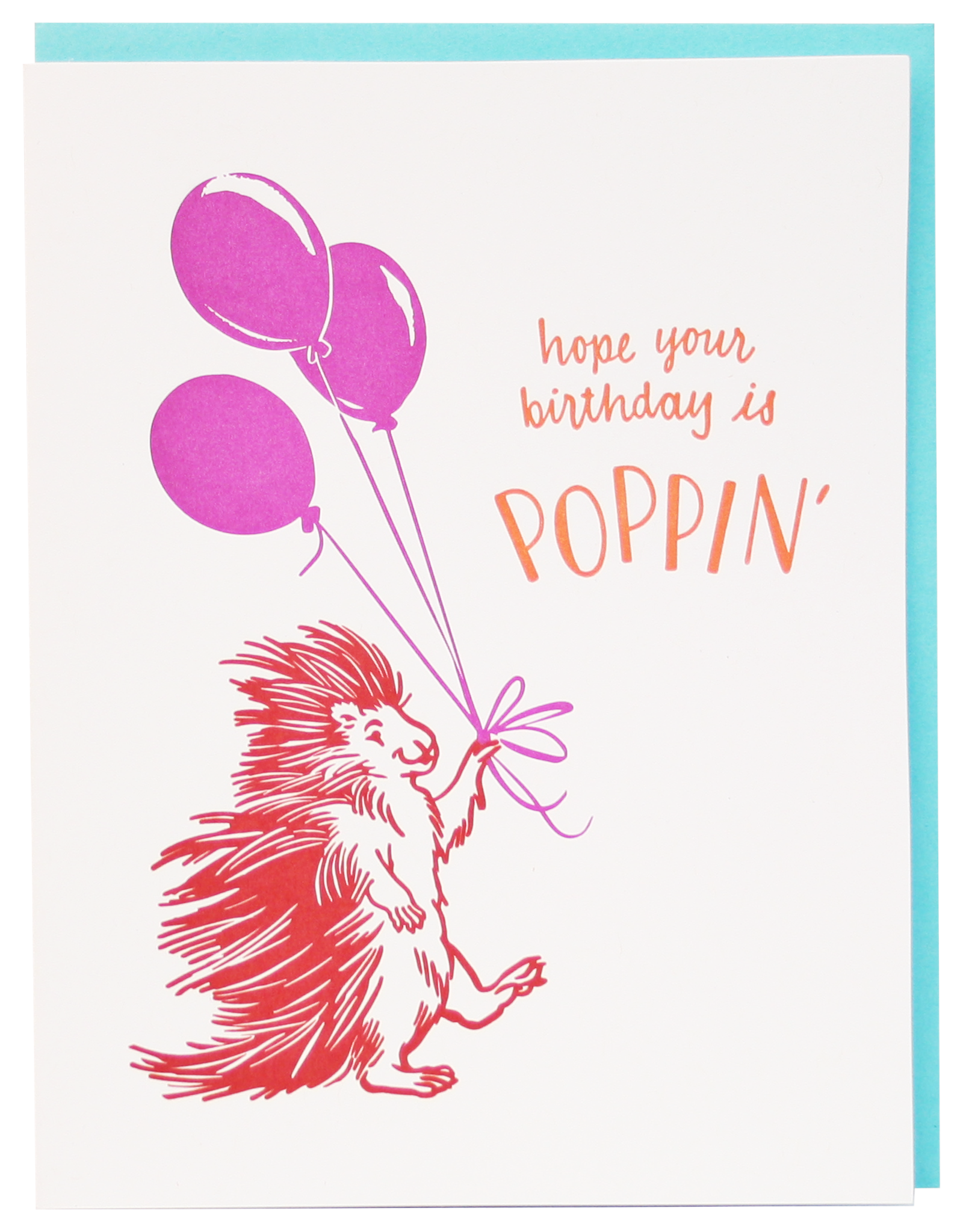 Card - Birthday: Poppin Porcupine