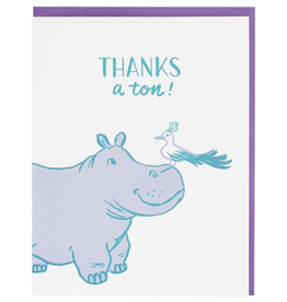 Card - Thank you: Hippo