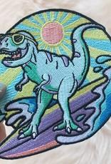 Patch - Dinosaur Surfing