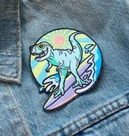 Wildflower + Co Patch - Dinosaur Surfing