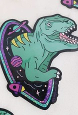 Sticker - Dinosaur Space Glitter Holographic!