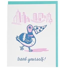 Card - Birthday: Pizza Pigeon