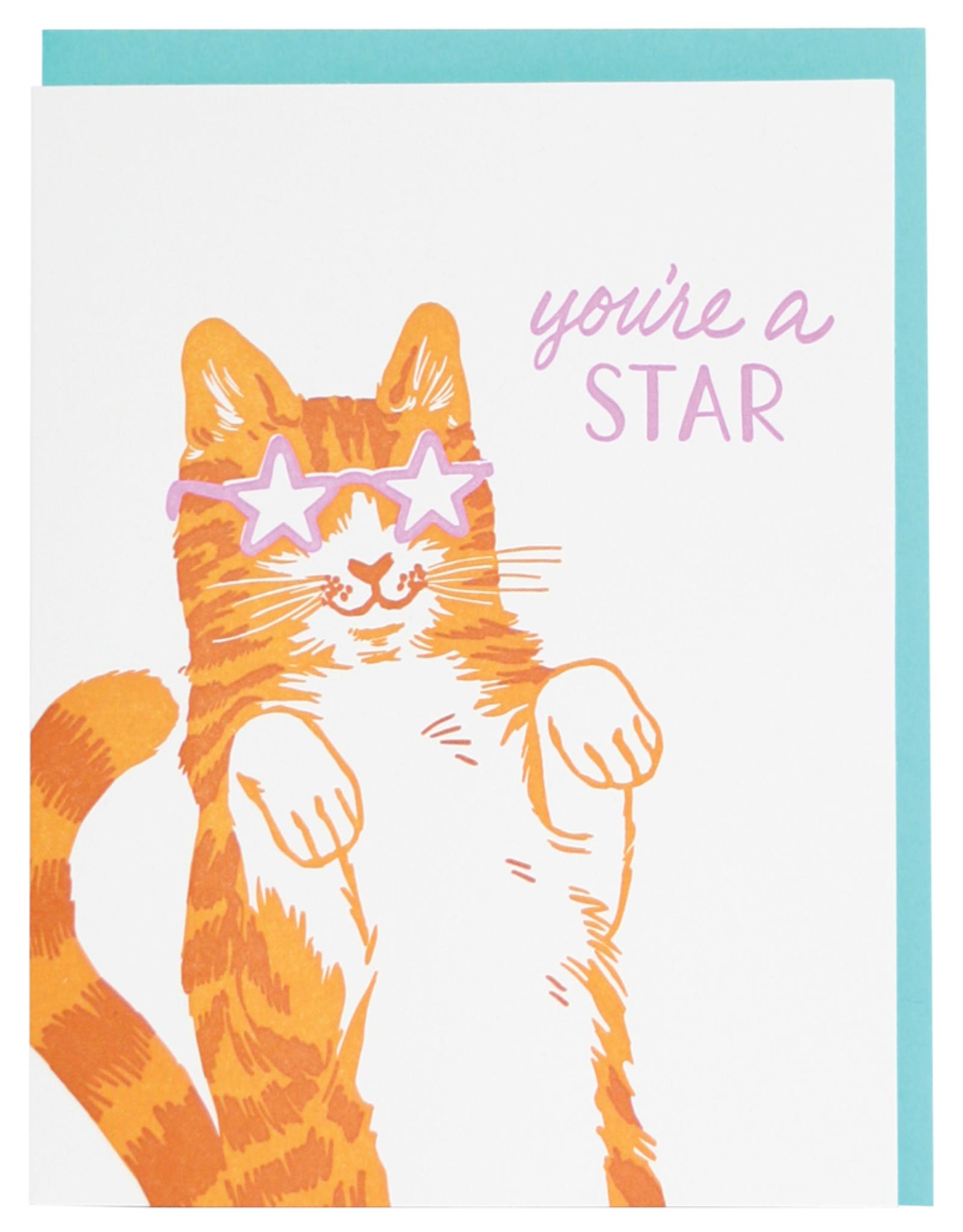 Card - Blank: Star Cat