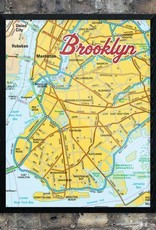 Print: Yellow Brooklyn Map