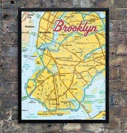 Print: Yellow Brooklyn Map