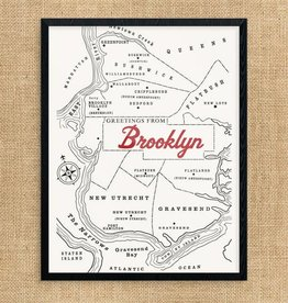 Print: Vintage Brooklyn Map