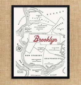 Print: Vintage Brooklyn Map
