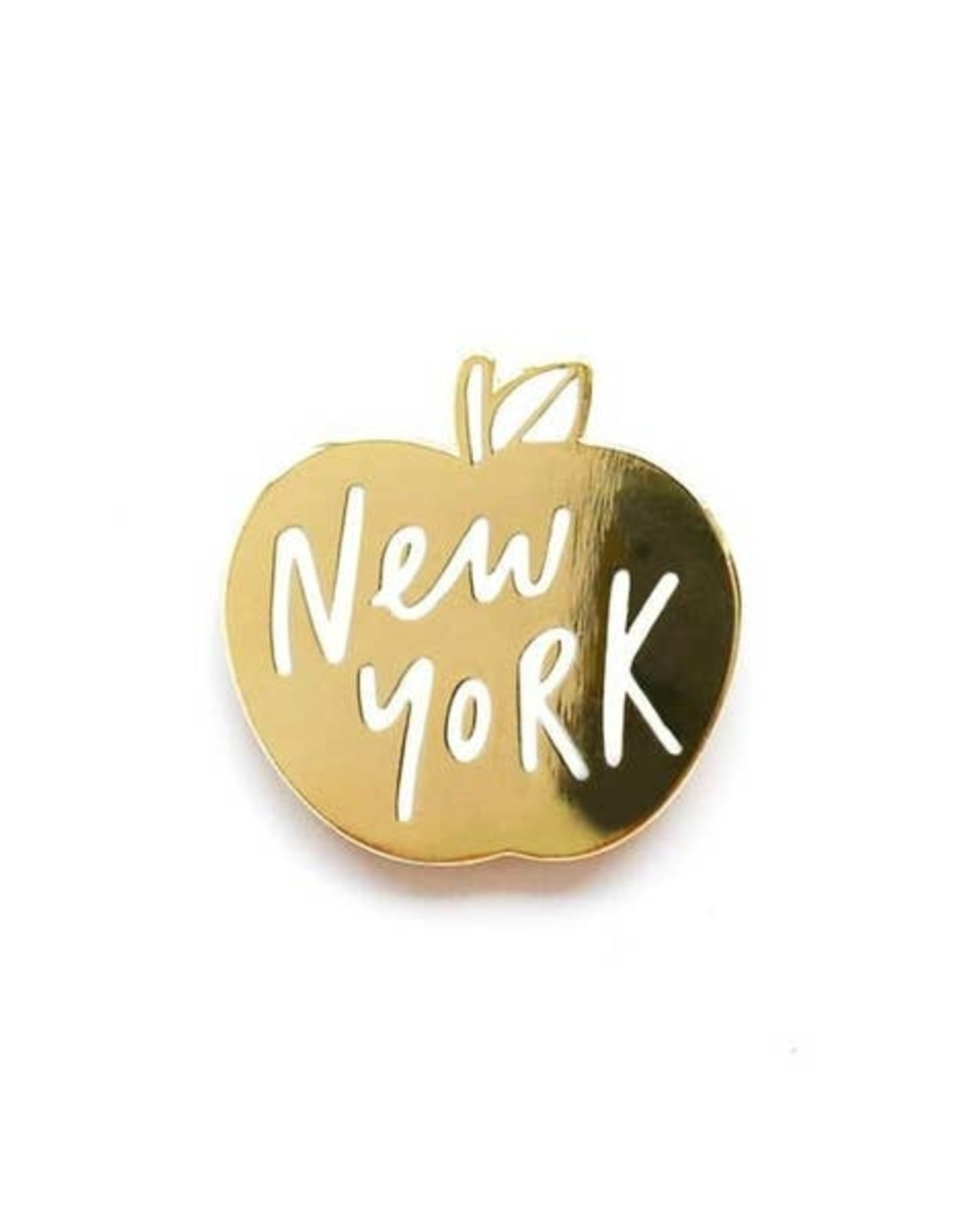 Enamel Pin : New York Gold Apple