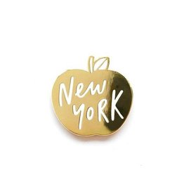 Old English Co. Enamel Pin : New York Gold Apple