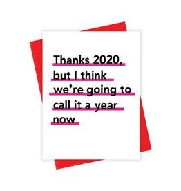 Card - Blank: Calling It a Year