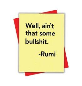 Card - Blank: Rumi