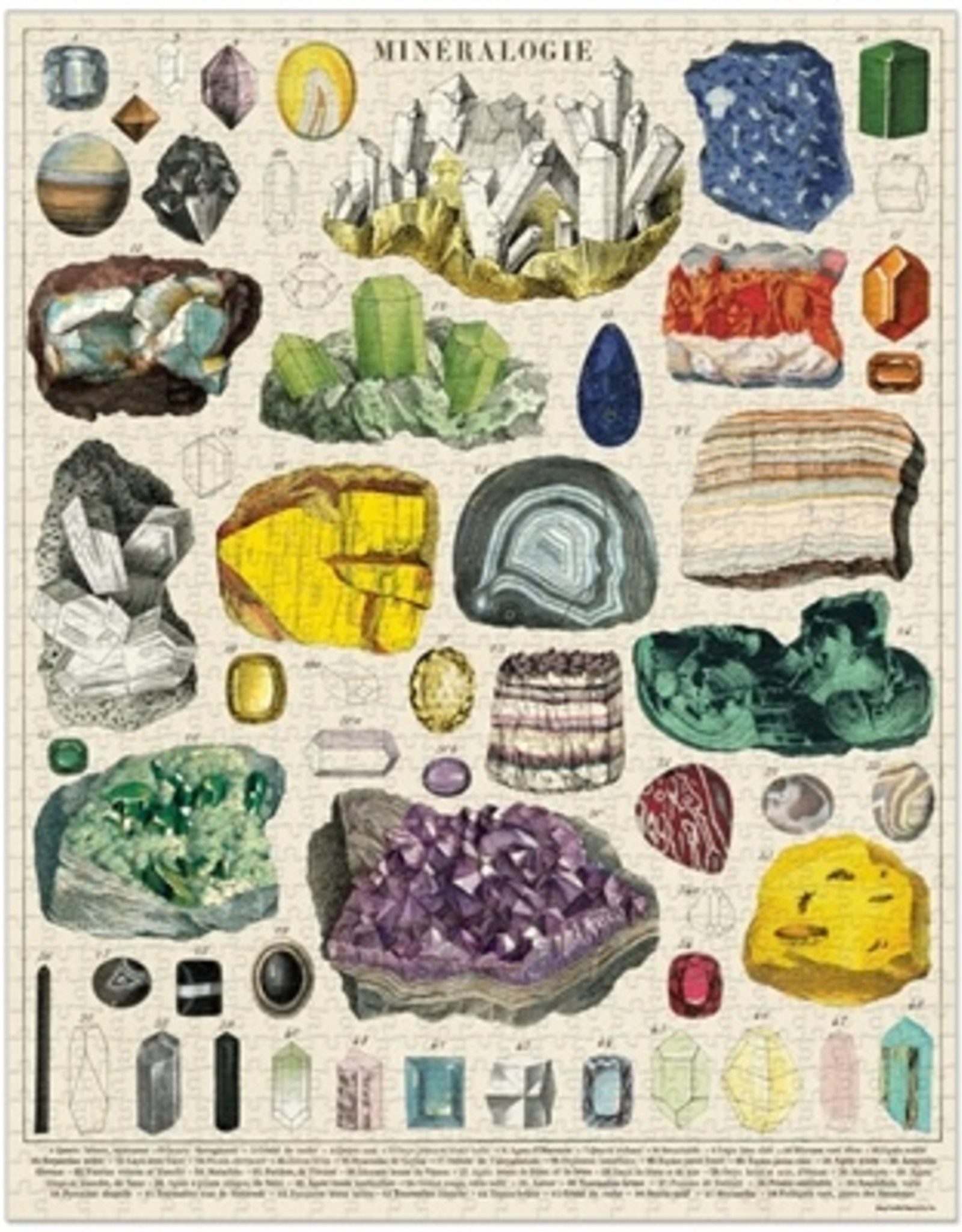 Cavallini Papers & Co. Puzzle: Mineralogy 1000 pieces