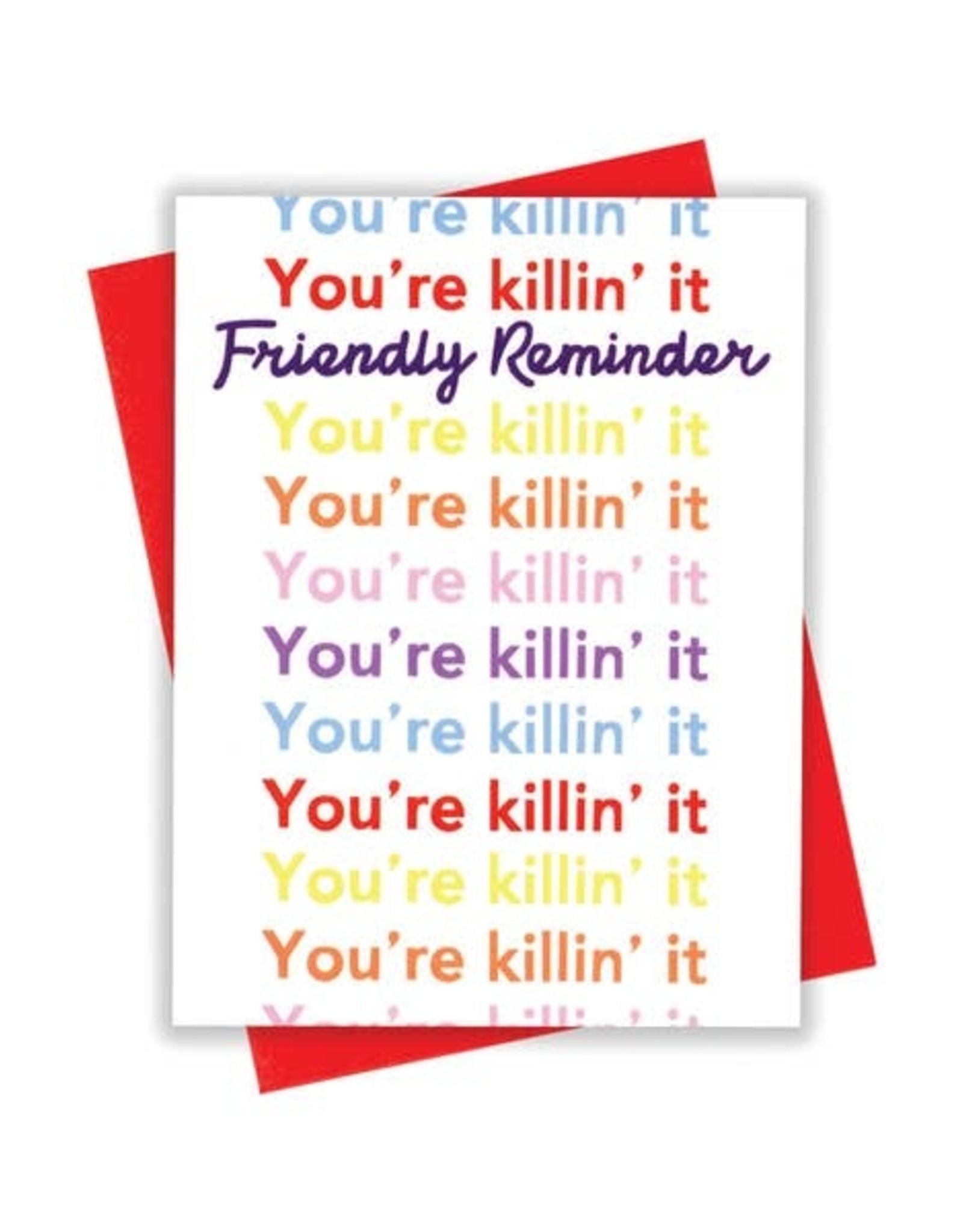 Card - Blank: Killing it