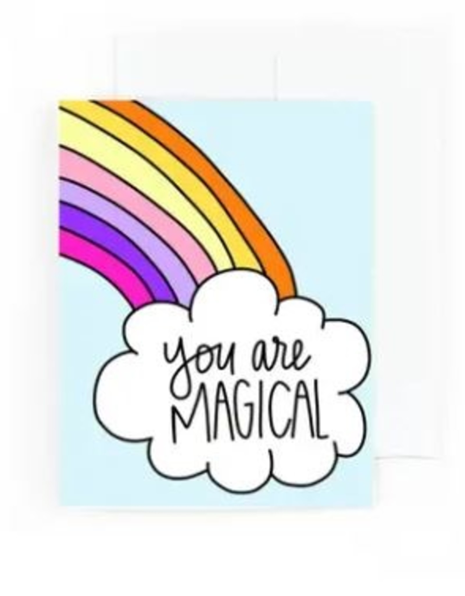 Pretty Peacock Paperie Card - Blank: You are magical