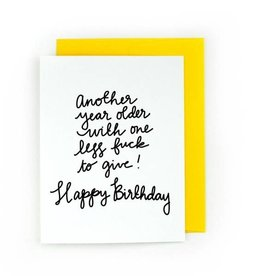Card - Birthday: One Less Fuck to give