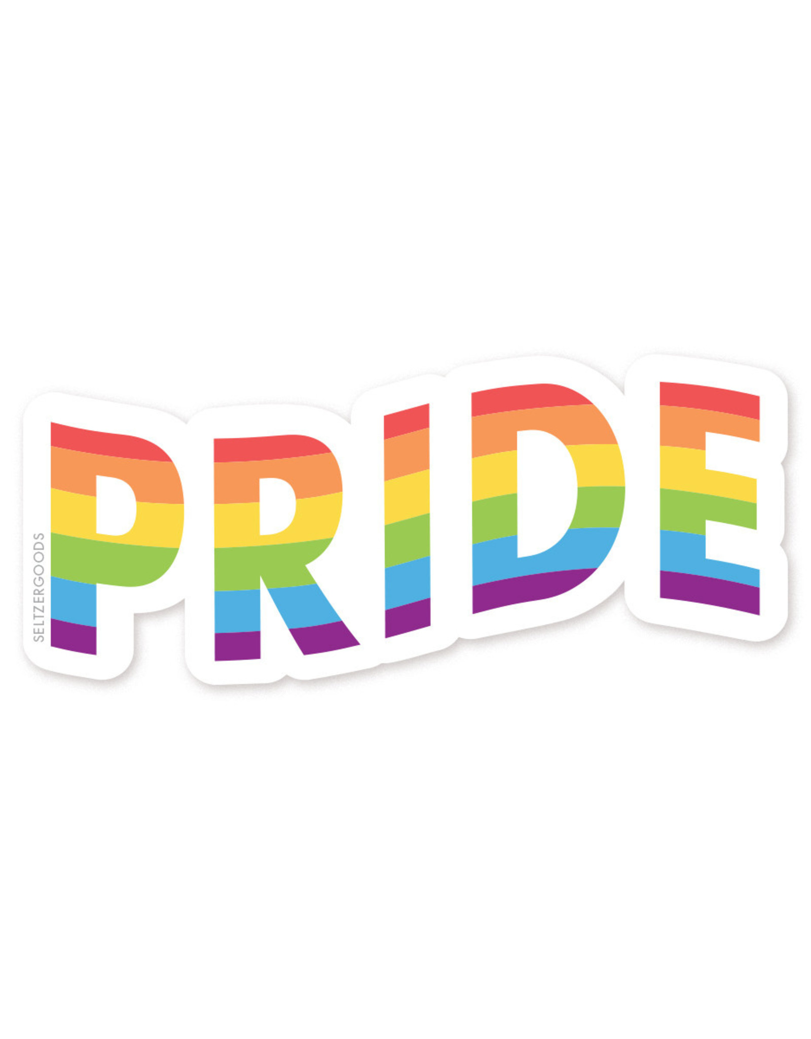 Sticker: rainbow waving pride