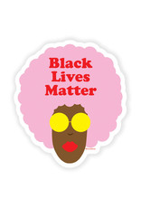 Sticker: Black lives matter (pink afro)