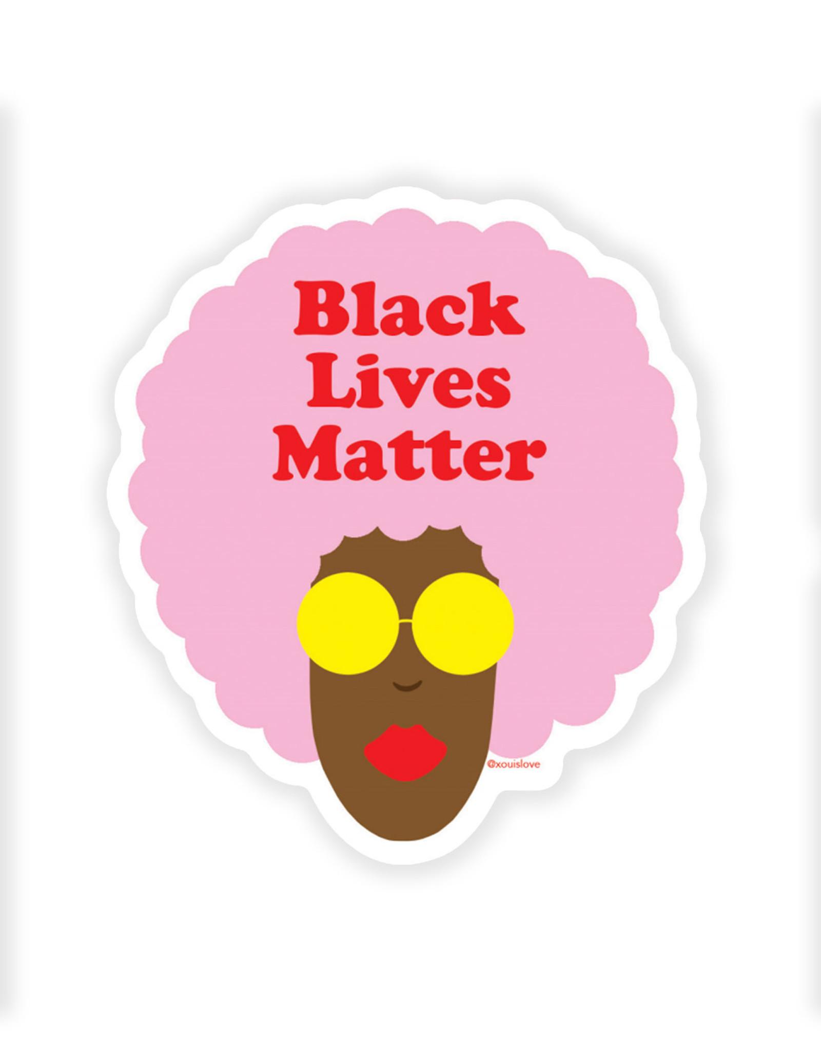 xou Sticker: Black lives matter (pink afro)