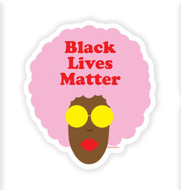 Sticker: Black lives matter (pink afro)