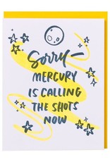 Card - Blank: Mercury is calling the shots now