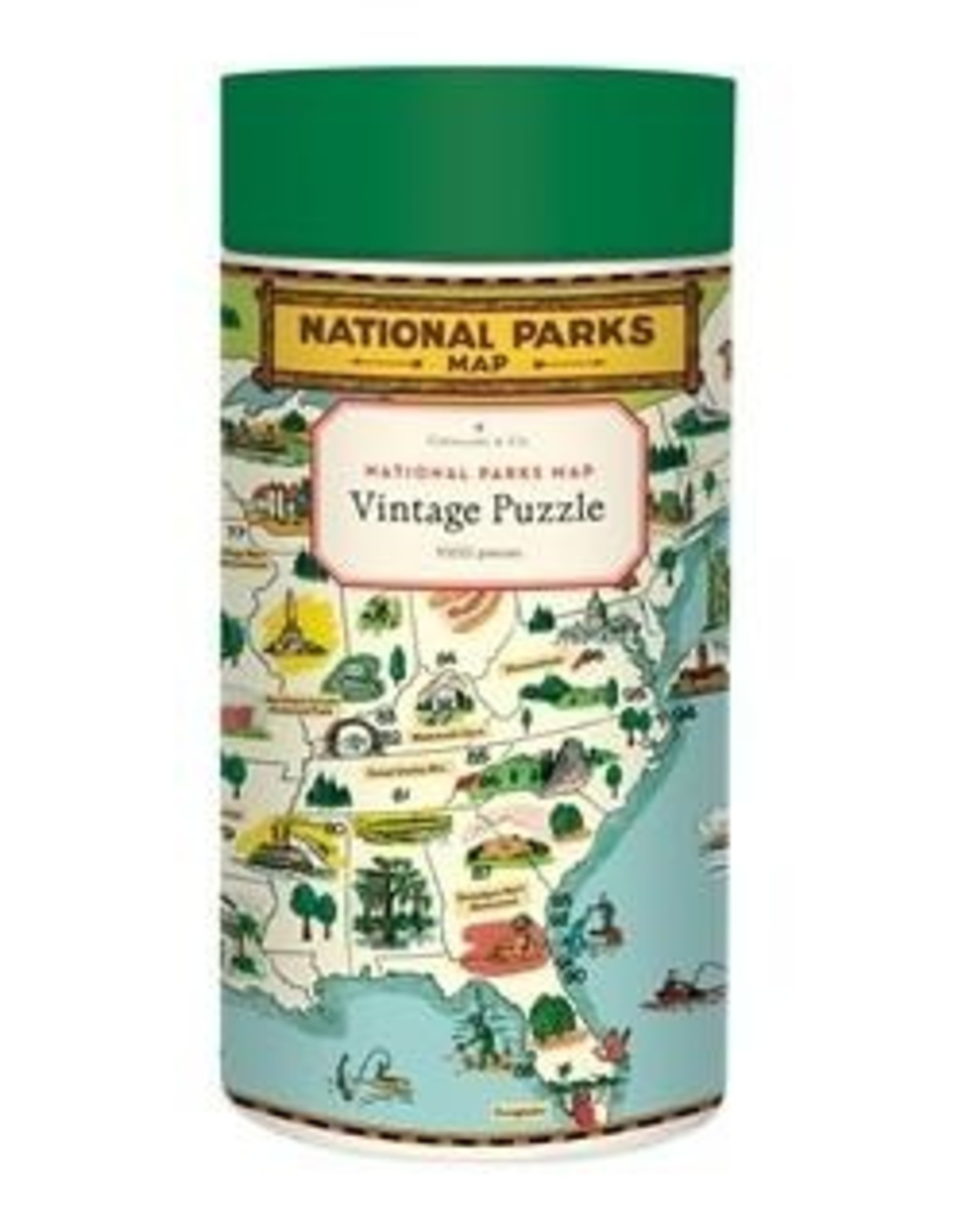Puzzle: National Parks Map 1000 pieces