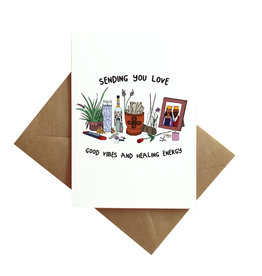 Card - Blank: Sending love good vibes healing energy