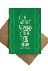 Card - Blank: African Proverb Friends
